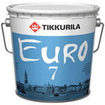 Краска интерьерная для стен Tikkurila Euro 7 (Тиккурила Евро 7)