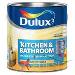 Матовая белая краска Dulux Realife для кухни и ванной