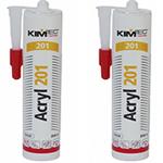 Акриловый белый герметик Kim-Tec Acryl 201